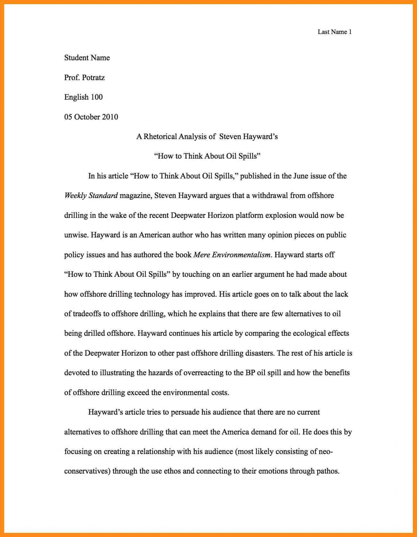 001 Essay Example Write Best Rhetorical Analysis Of Using