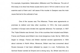 001 Essay Example Ww1 Whydideuropegotowarin1914essay Phpapp01 Thumbnail Impressive Hook Topics