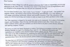 003 Carolina Williams Yale Essay ~ Thatsnotus