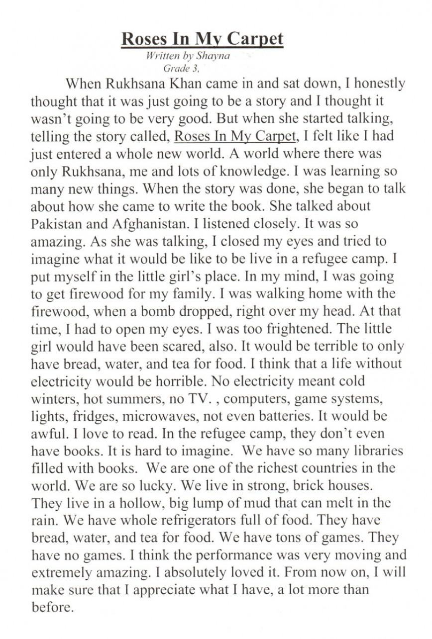 001 Essay For Kids Letter1 Staggering