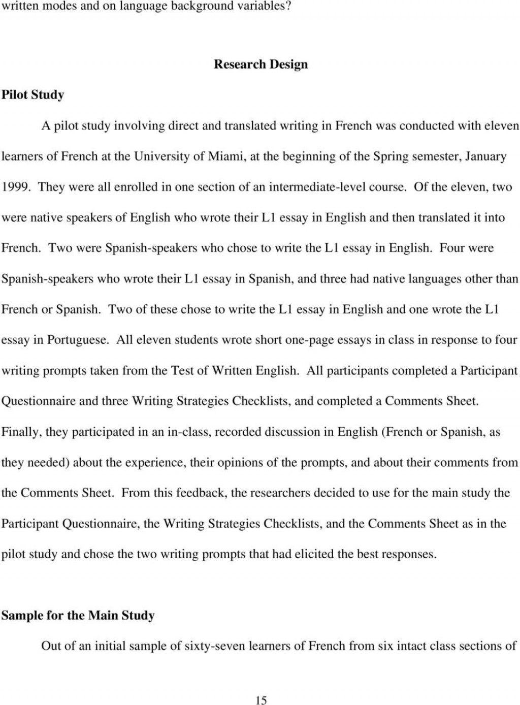 Marvelous Essay Meaning In Spanish