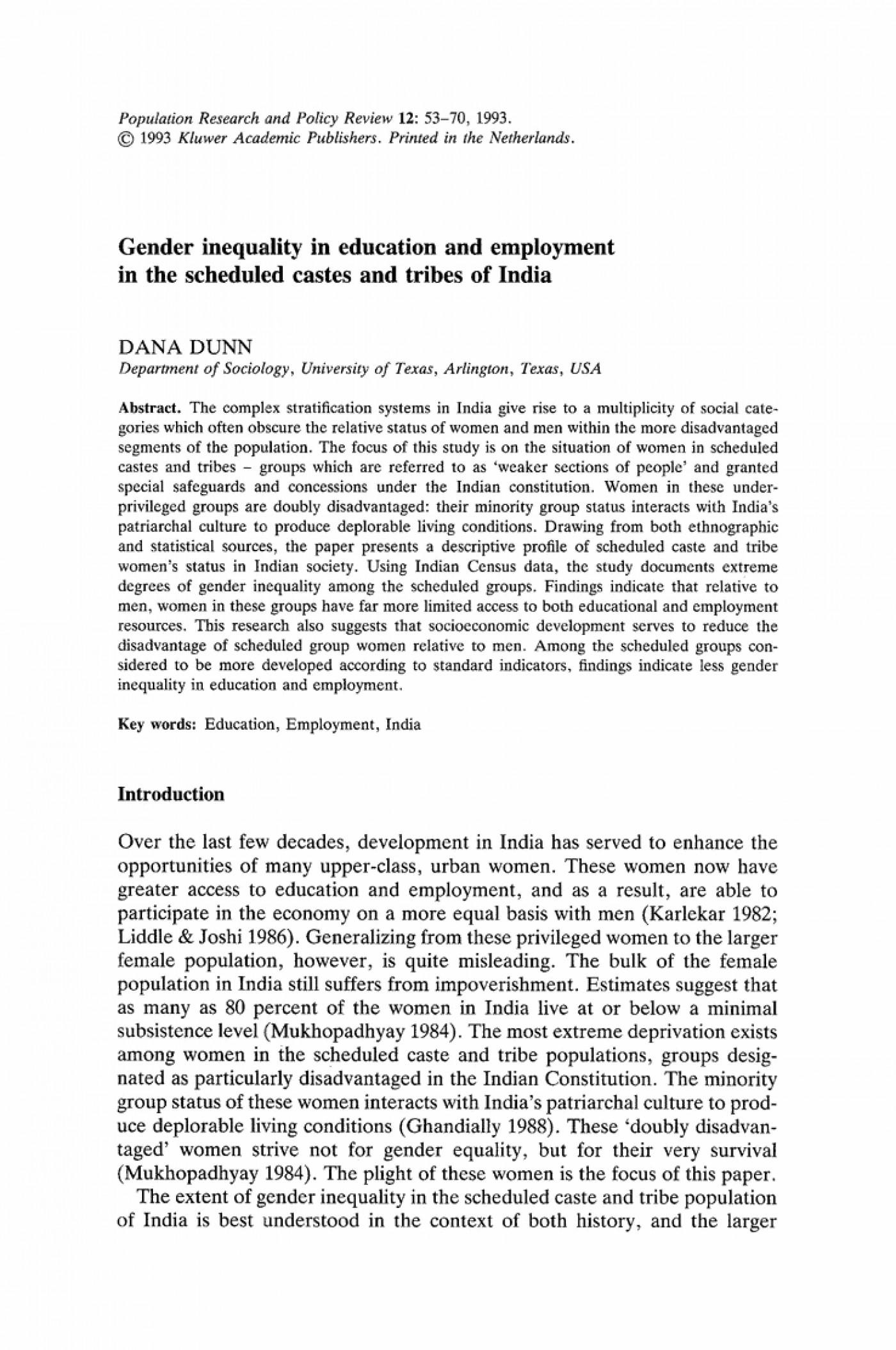 gender equality essay pdf