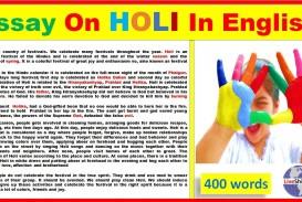001 Essay On Holi Example Impressive Holidays Are Necessary Evils In Gujarati Festival Punjabi Language