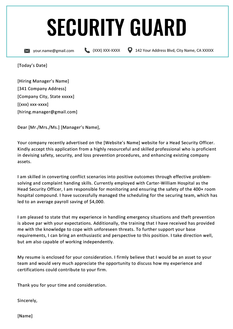 001 Essay On My Experience In Company Example Security Guard Cover Letter Unbelievable Full