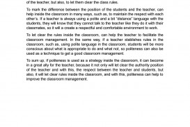 001 Essay On Politeness In Students Page 1 Dreaded