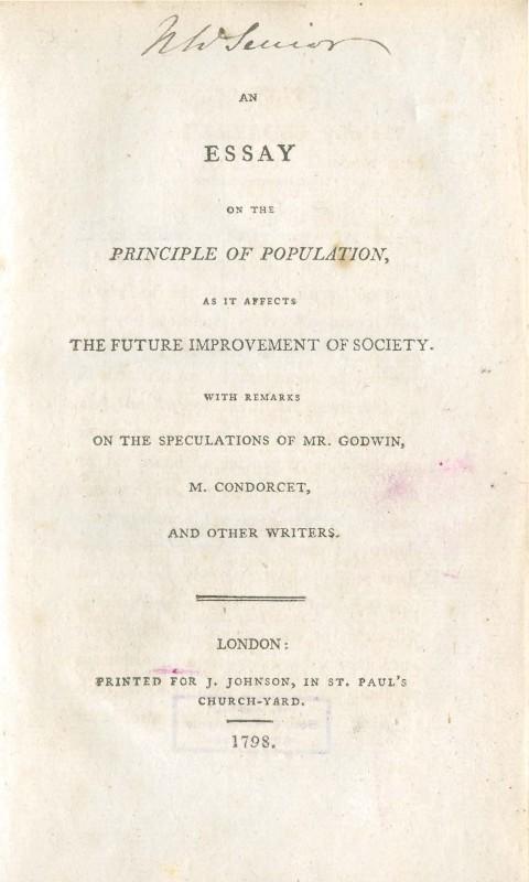 001 Essay On The Principle Of Population Singular Malthus Sparknotes Thomas Main Idea 480