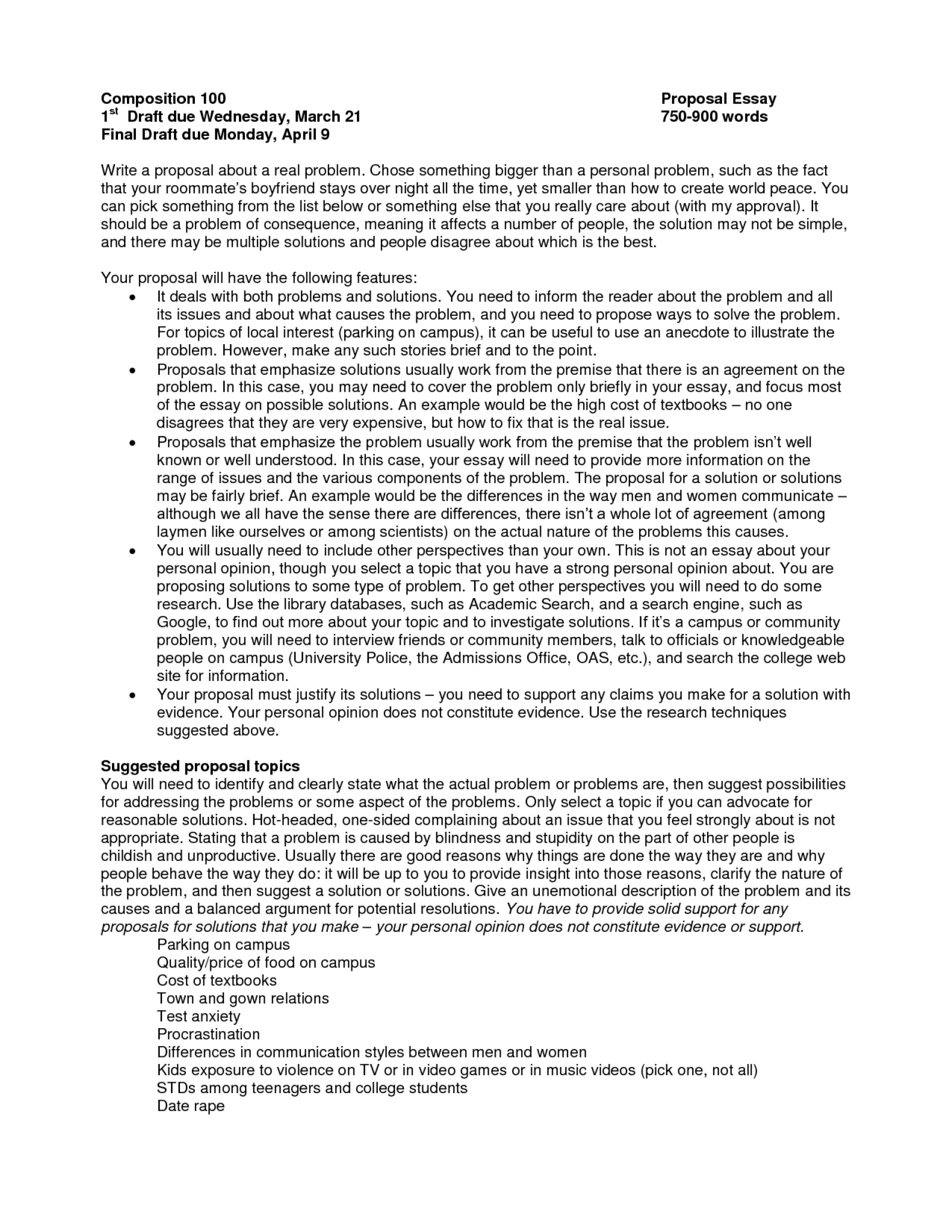 001 Essay Proposal 248172 What Is Top A Argument The Purpose Of 1920