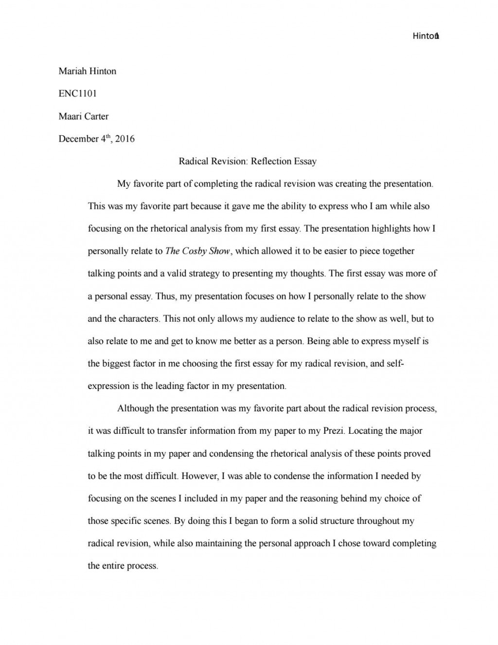 001 Essay Revisor Example Page 1 Magnificent Sas Large
