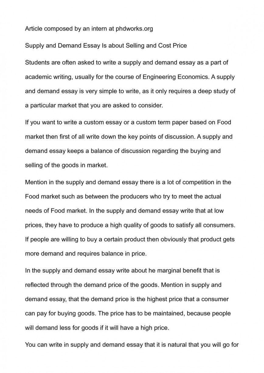 001 Essay Supply P1 Shocking Economics And Demand Topics For Chain Management Questions