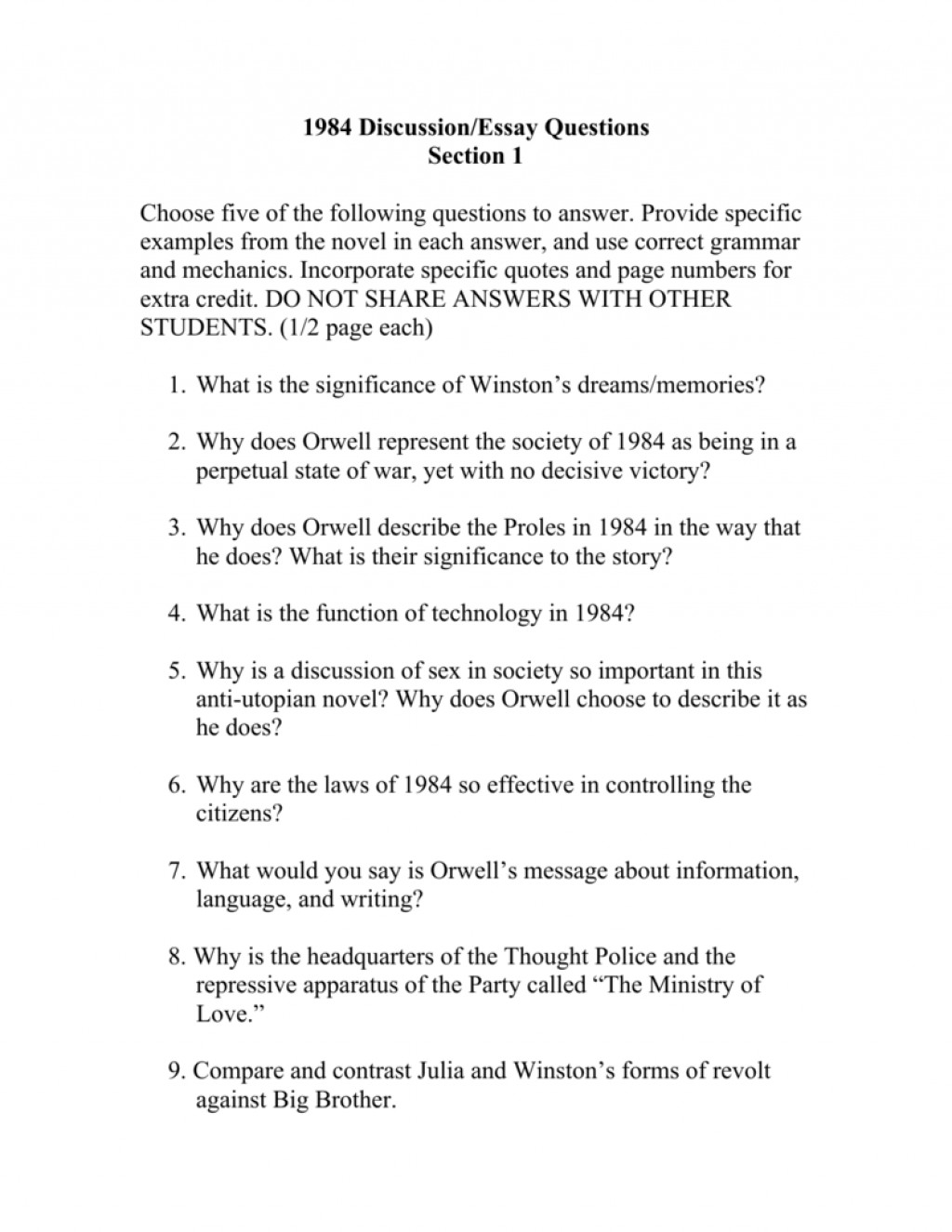 001 Essay Topics 008727389 1 Incredible 1984 Stasiland George Orwell Research Paper Book Questions Large