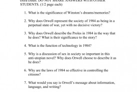 001 Essay Topics 008727389 1 Incredible 1984 Stasiland George Orwell Research Paper Book Questions