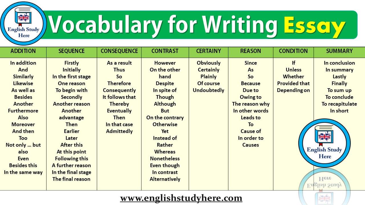 essay vocab improver