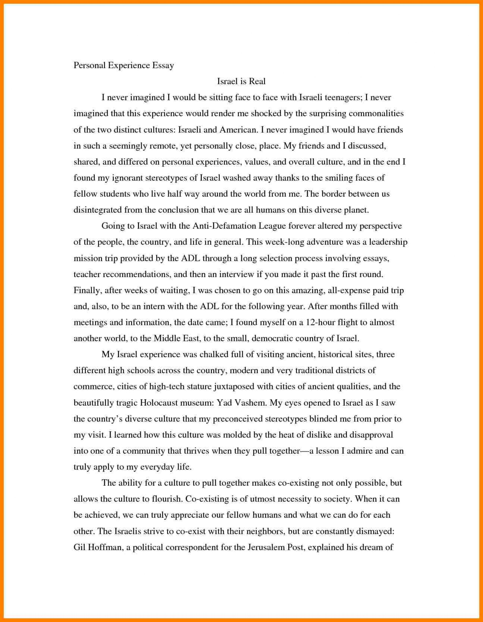 001 Essaye Personal Experience Bunch Ideas Of Writing Sample College Essays Charminges Fearsome Essay Narrative Example Paper Topics Outline 1920