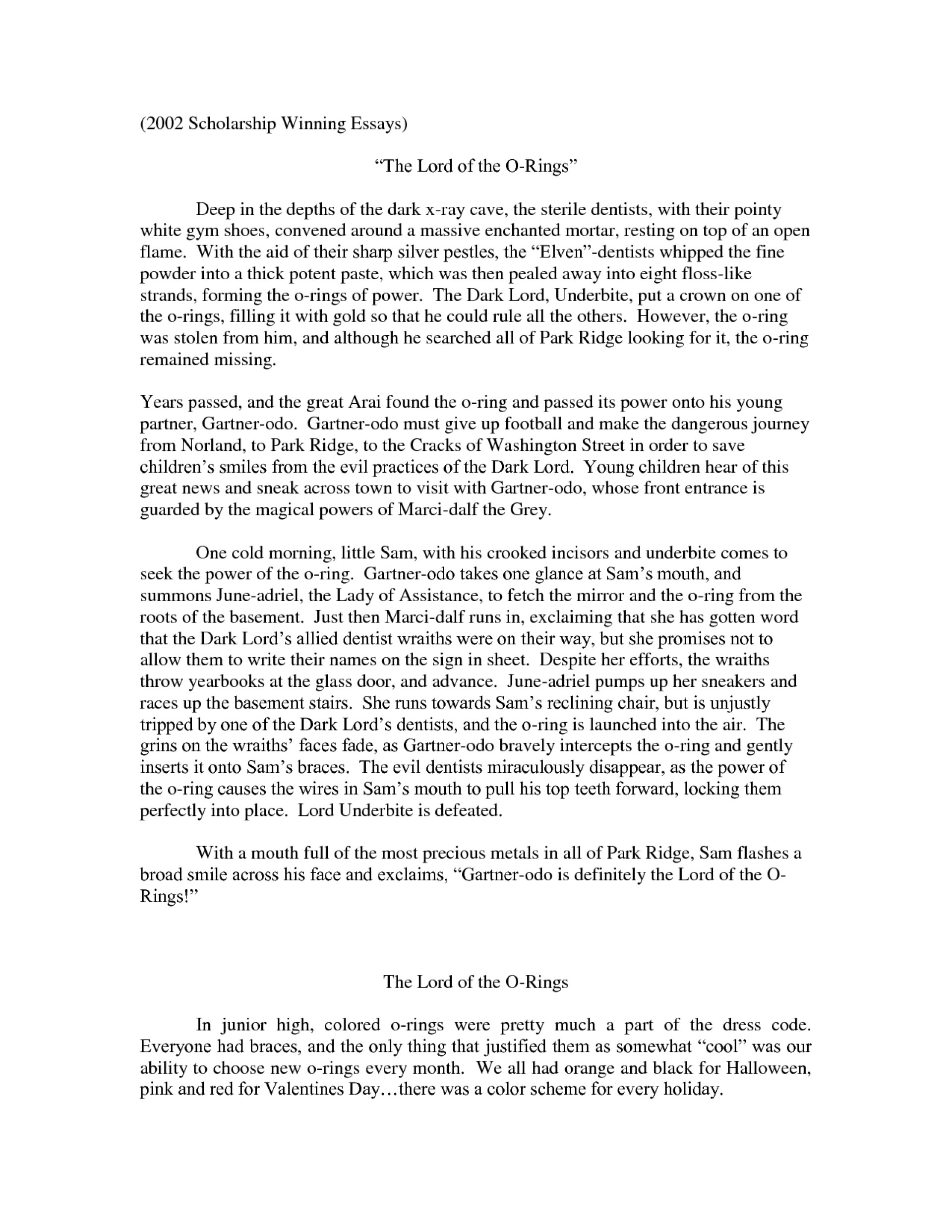 001 Essays Scholarships Samples Of An Essay L Winning Scholarship Stupendous Examples College Pdf 1920