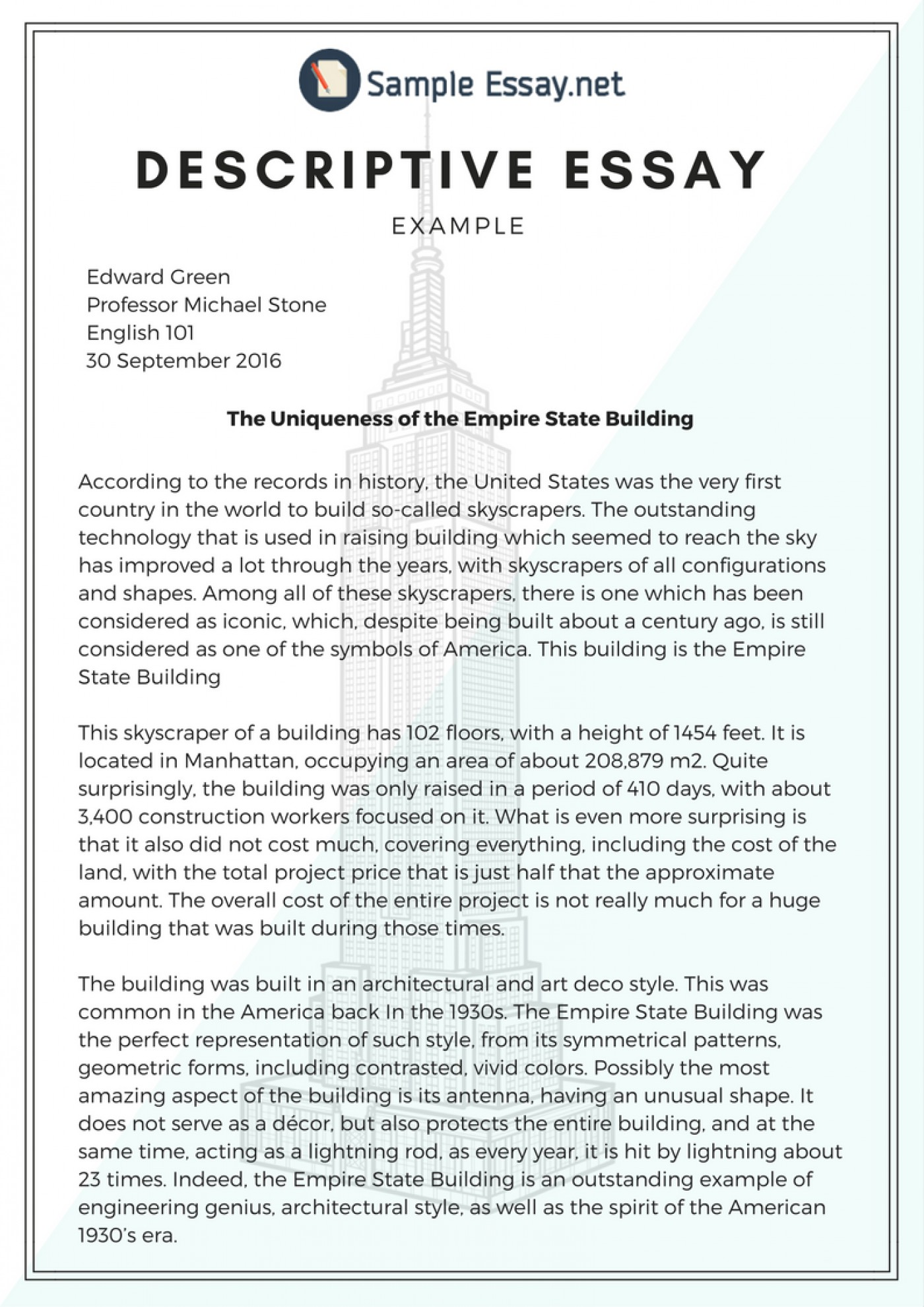 024 essay example of descriptive examples paragraphs and