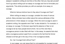 001 Fear Essay P1 Astounding Ideas In English Prompt