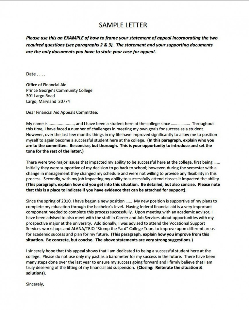 001 Financial Aid Appeal Letter Essays Essay Example Sample Remarkable Sap Examples