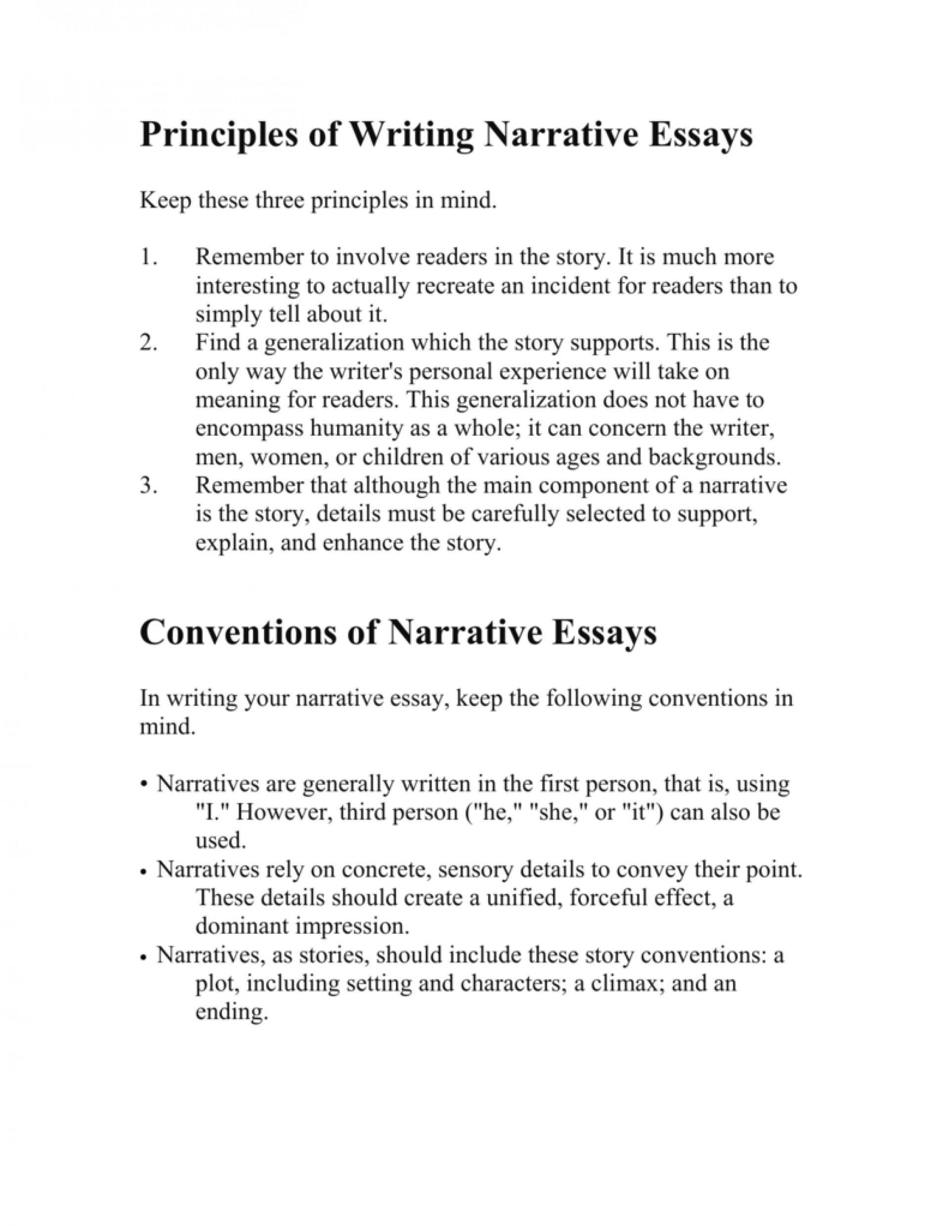 001 First Person Essay Example 007210888 1 Stirring Narrative Sample 1920