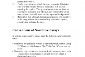 001 First Person Essay Example 007210888 1 Stirring Narrative Sample