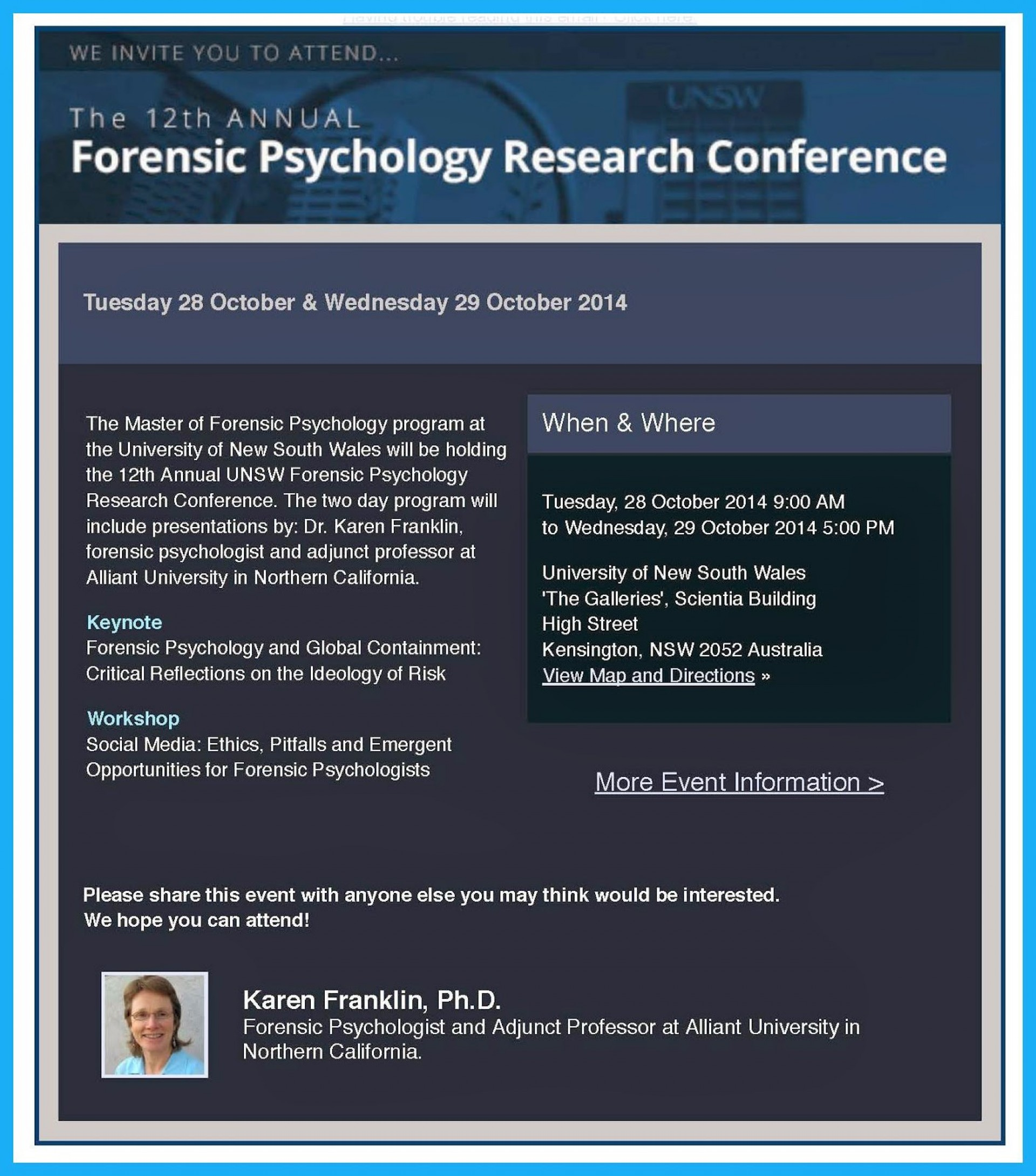 001 Forensicpsychologyresearchconference2014 Conferenceflier Essay Example Quirk Magnificent College 1920