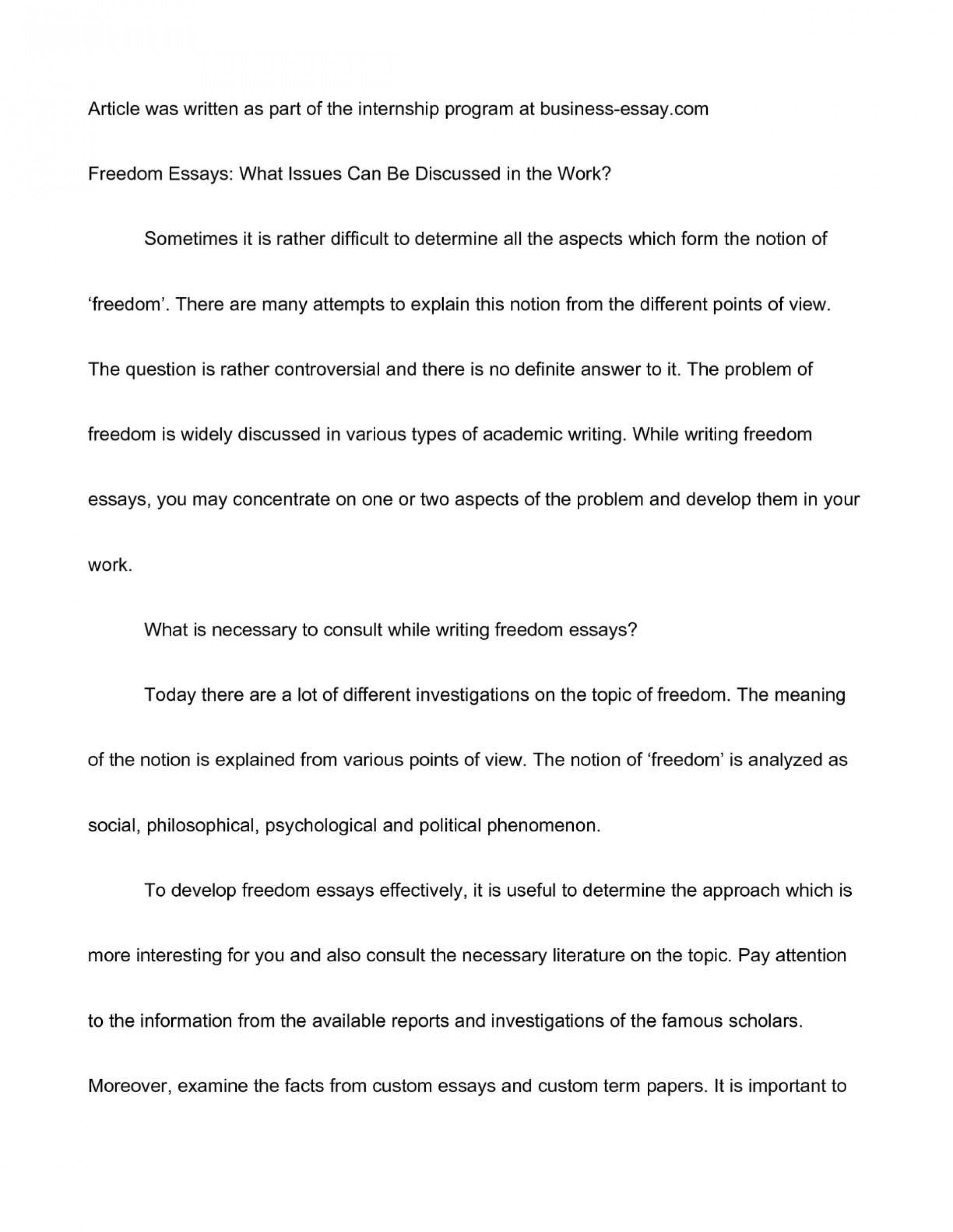 essay on freedom in 150 words