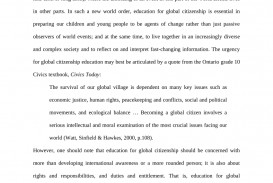 001 Global Citizen Essay Examples Example Unique