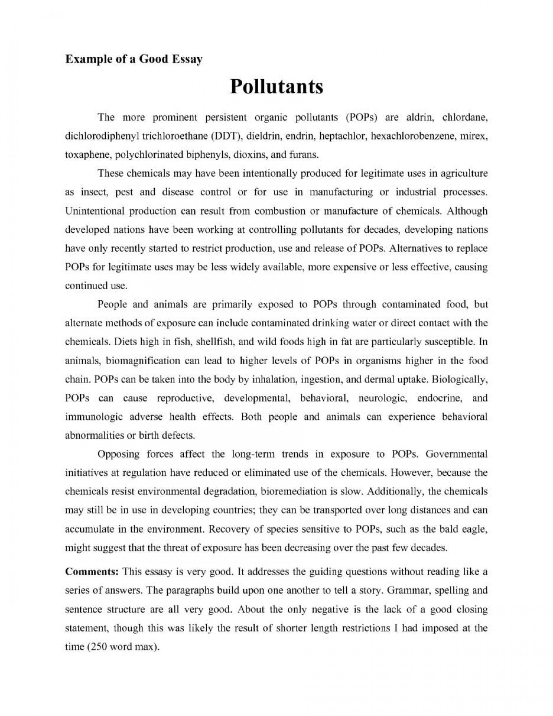 001 Good Essays Fascinating Essay Examples University Explanatory For Middle School Introduction 1920