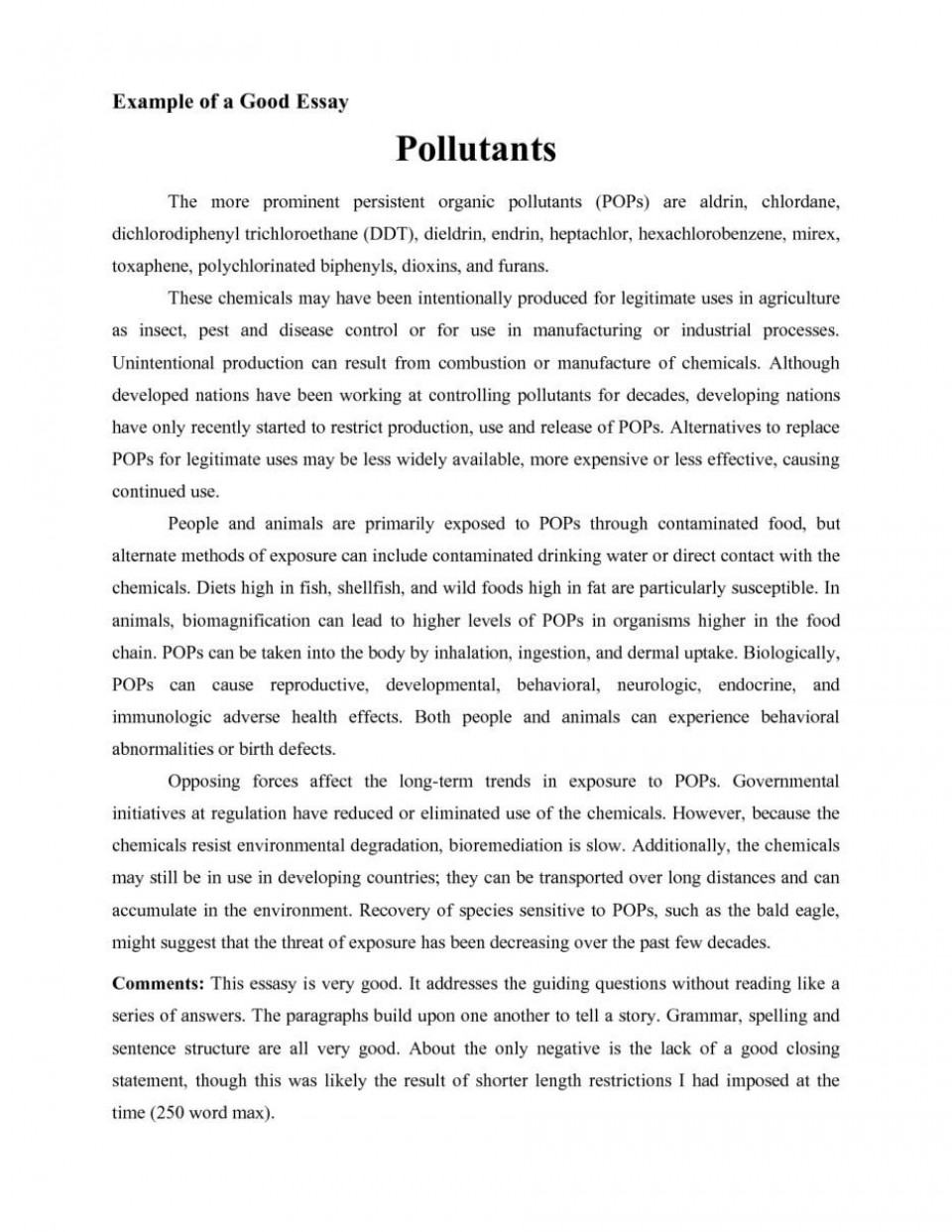 001 Good Essays Fascinating Essay Examples University Explanatory For Middle School Introduction 960