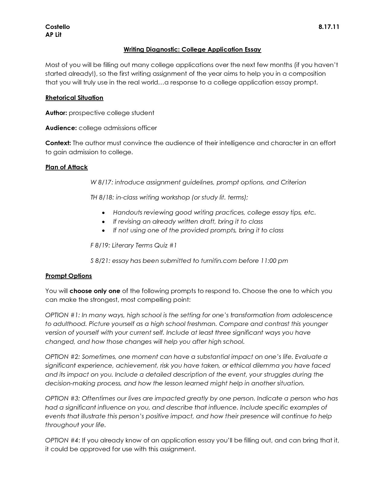 008 Heading For College Essay Example Thatsnotus