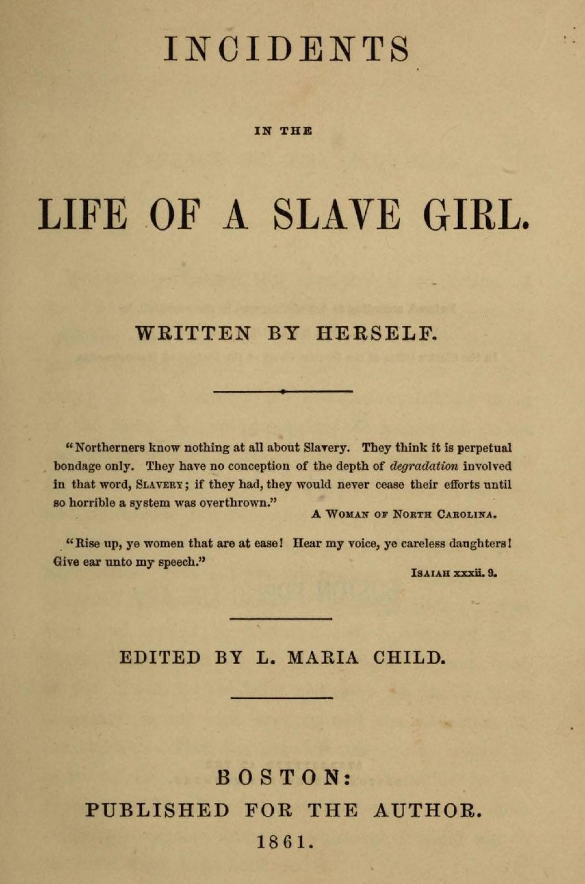 001 Harriet Jacobs Essay Example Black History Remarkable Vs Frederick Douglass Topics Analysis 1920