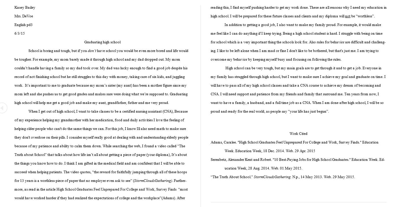 001 High School Graduation Essay Example High20school Rare Day Ceremony Full