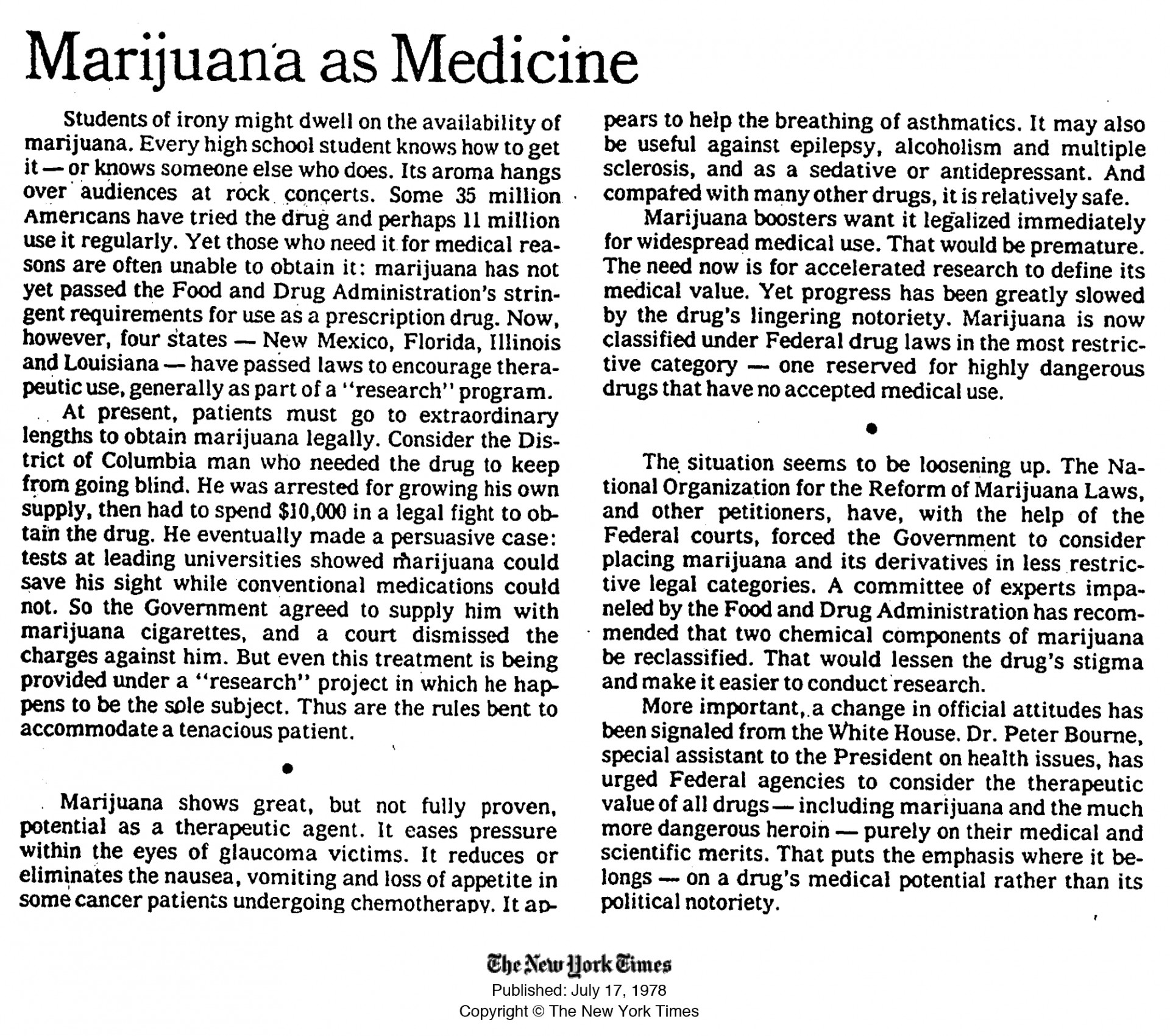 001 High Time Marijuana Medicine July Essay Example Should Top Be Legalized Persuasive Medical Illegal 1920