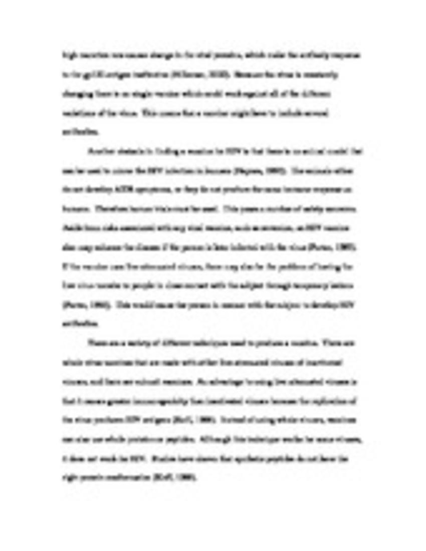 001 Hiv Essaypage1 Essay Phenomenal Aids Conclusion Pdf Hiv/aids Topics Full