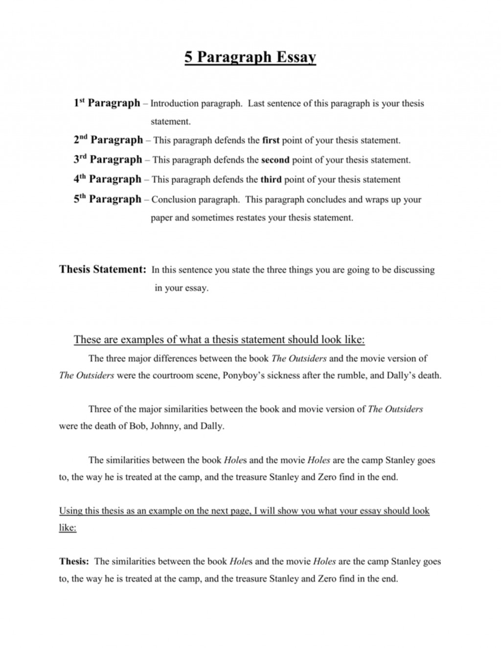 001 Holes Essay Conclusion Example 007877354 2 Breathtaking Black Large