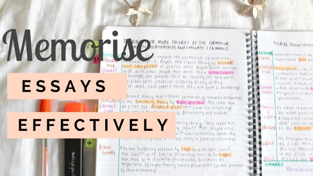 001 How To Memorise An Essay In Hour Maxresdefault Unbelievable A Few Hours Remember 1 Large