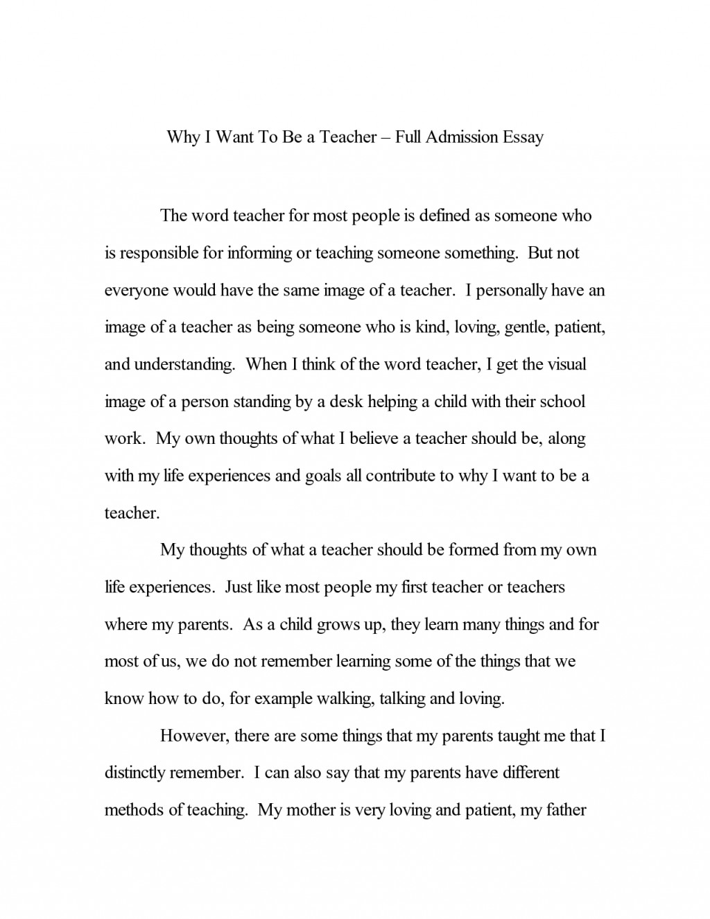 001 How To Write An Admission Essay Example Top For High School Graduate Nursing Large