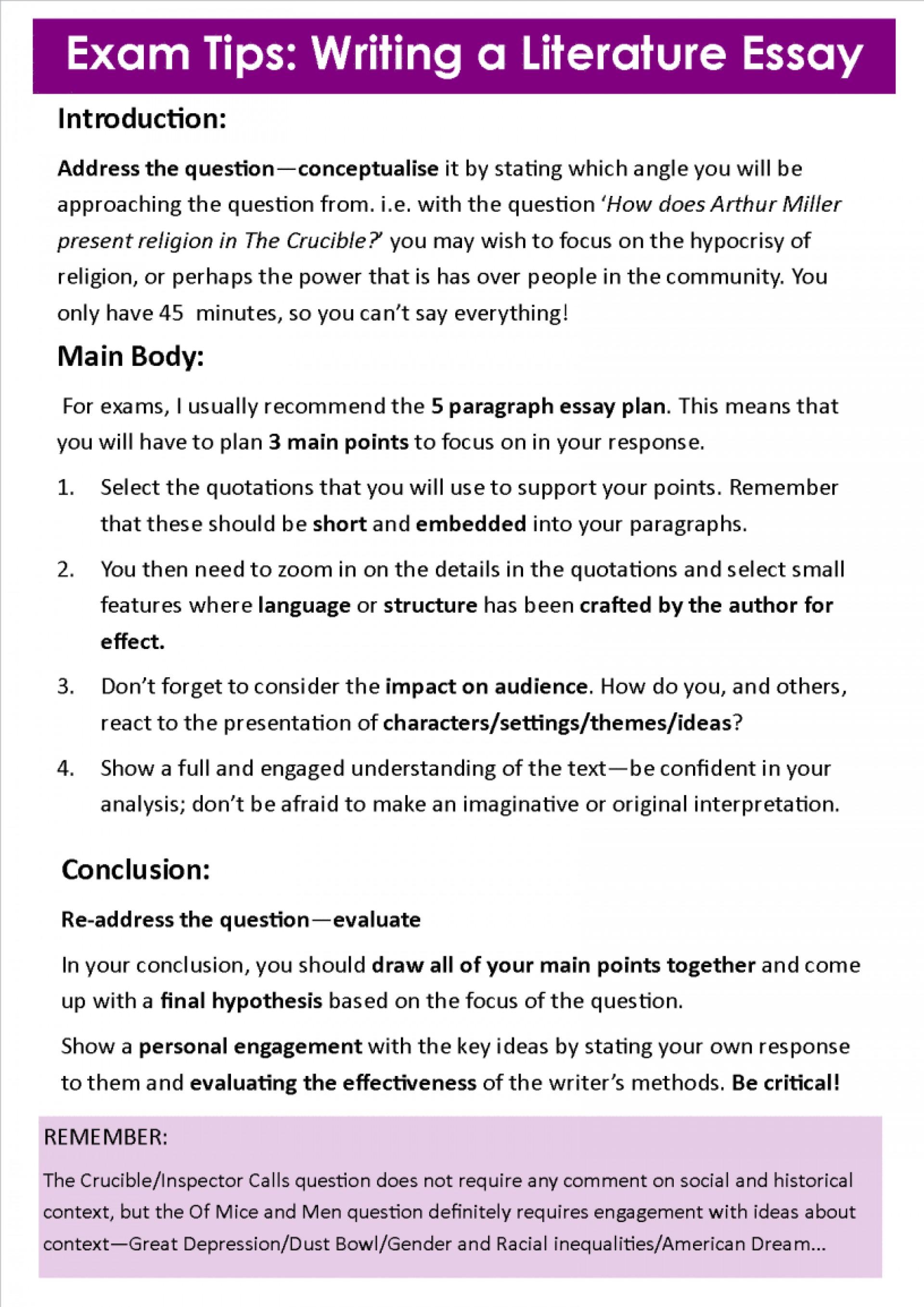 how to write good english literature essay  thatsnotus