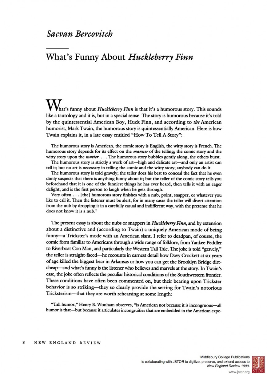 001 Huckleberry Finn Essay Example Phenomenal Creative Huck Titles Discussion Questions Answers Sparknotes Topics