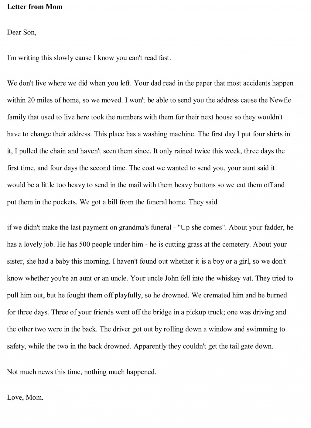 001 Humorous Essays Funny Essay Free Sample Outstanding In English For High School On Marriage Large