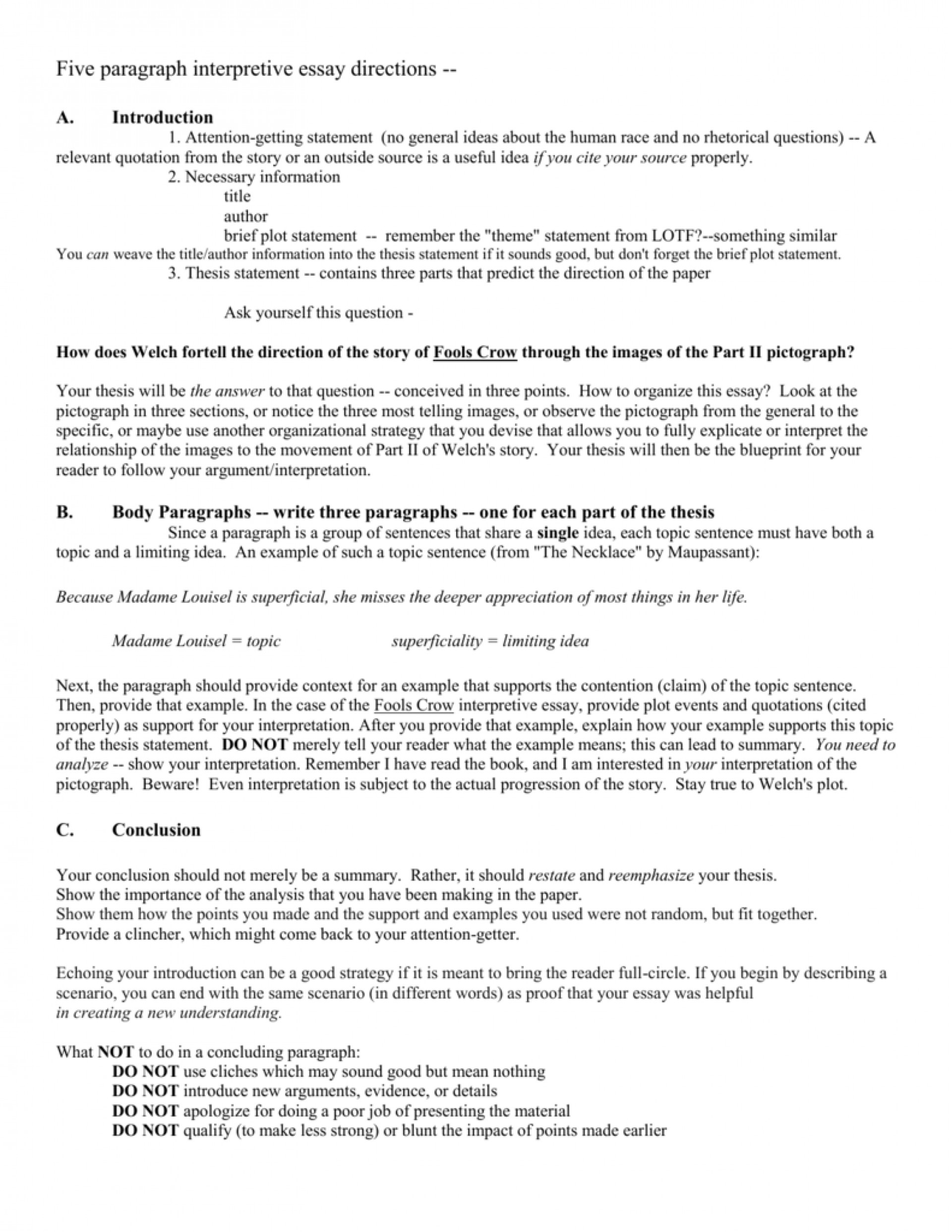 001 Interpretive Essay Example 008042384 1 Outstanding Sample Thesis Statement Writing Prompts 1920