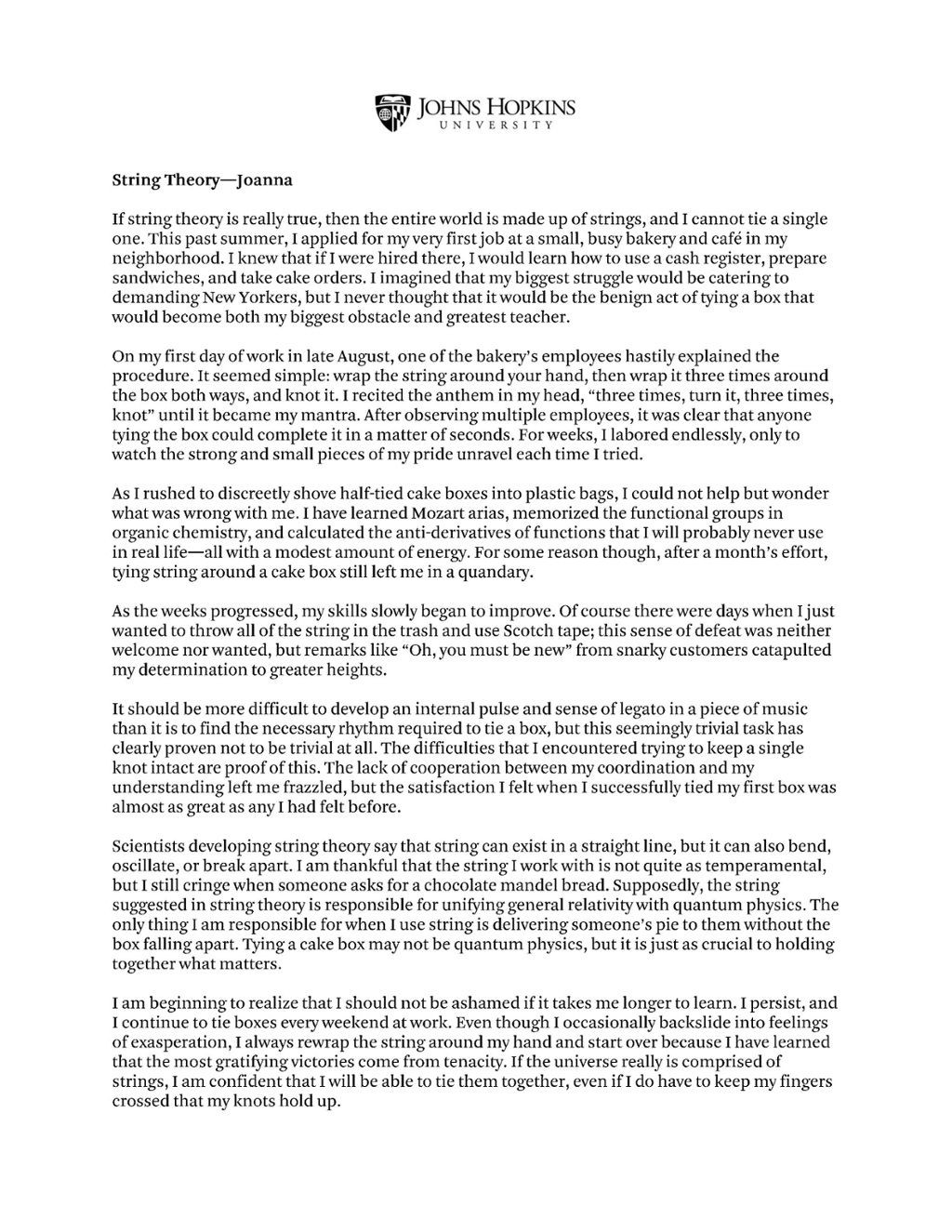 001 Jhu Essays That Worked Essay Wonderful 2019 Johns Hopkins Large