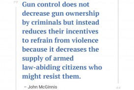 001 John Mcginnis 1024x828 Essay Example Pro Gun Fearsome Control Introduction Titles Outline