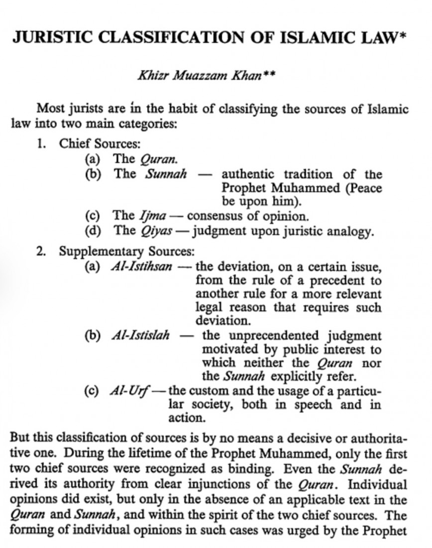 001 Kahn Copy Essay Example Sharia Frightening Law Islamic Topic Sources Of