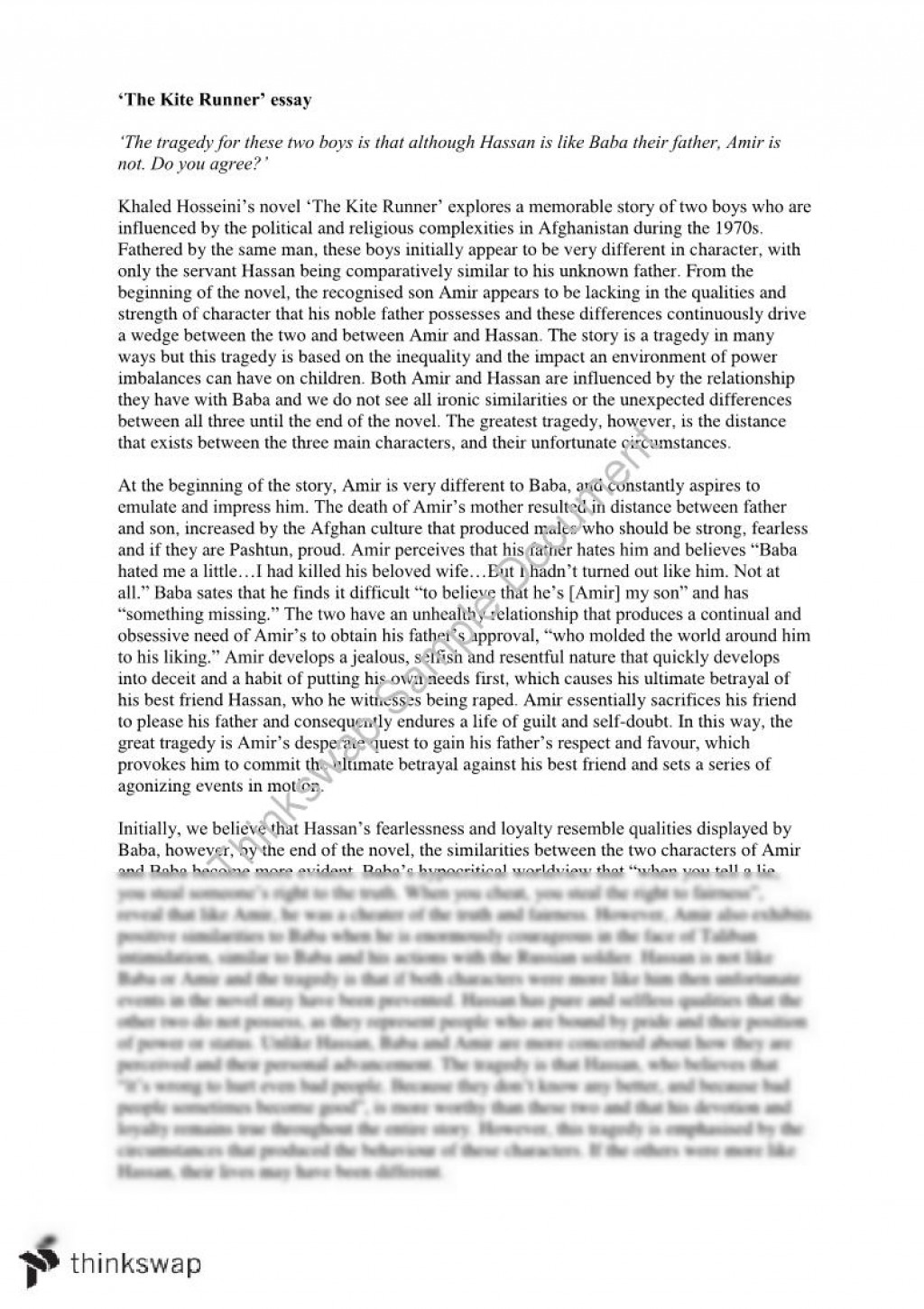 001 Kite Runner Essay 64447 The Fadded31 Singular Topics Discussion Questions Chapter 22 Large