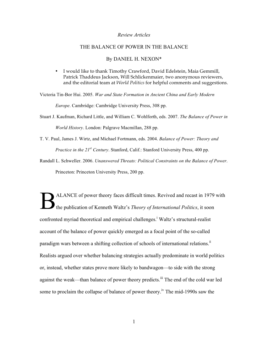 001 Largepreview Essay Example Balance Of Remarkable Power On The Hume Full