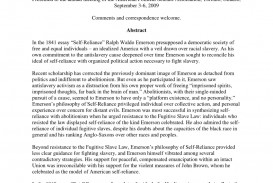 001 Largepreview Essay Example Emerson Self Staggering Reliance Summary Translated Into Modern English Analysis