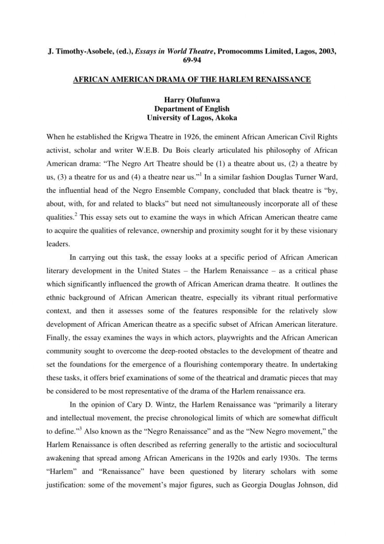 001 Largepreview Essay Example Harlem Striking Renaissance Essayist Introduction Titles