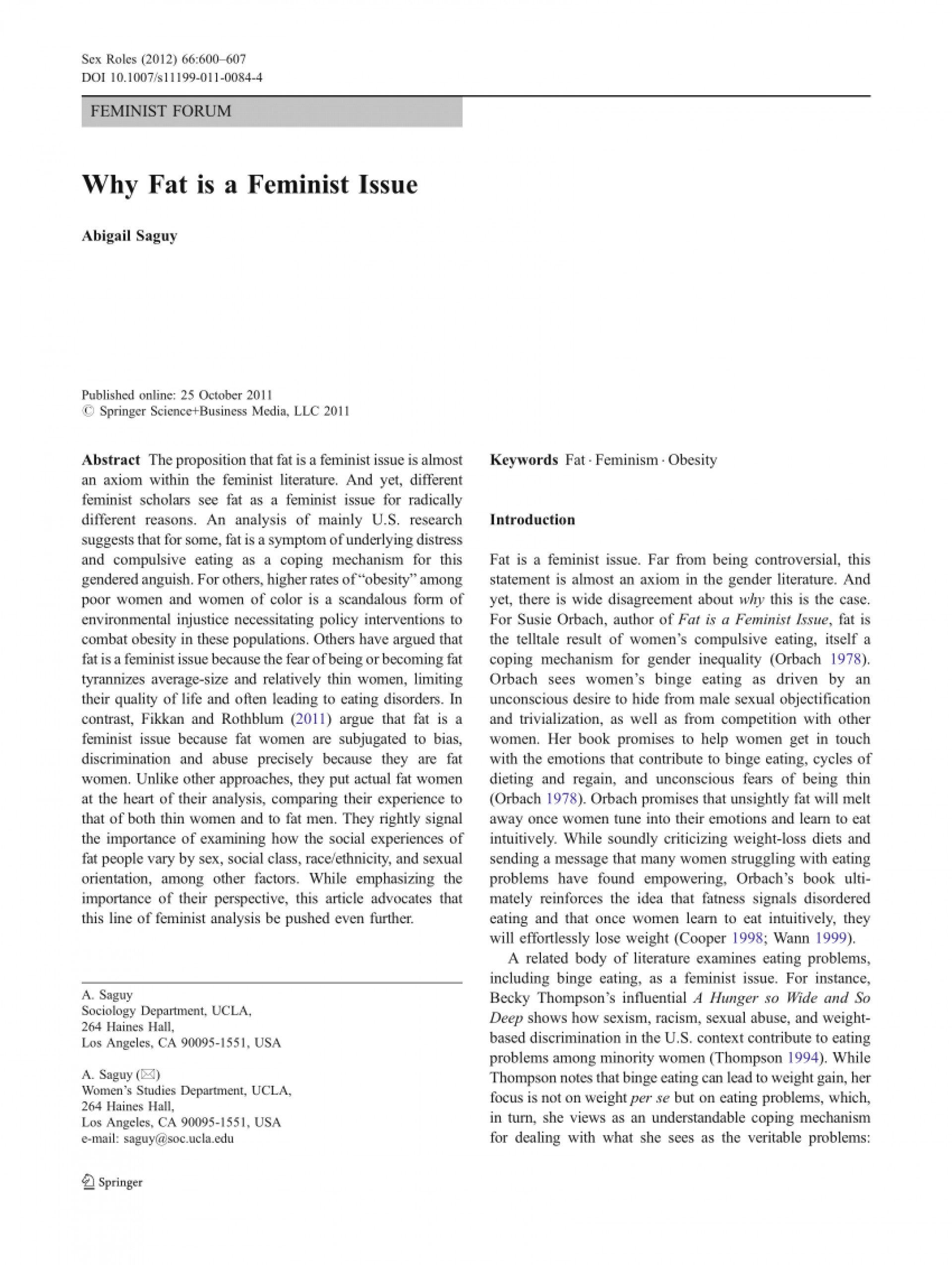 001 Largepreview Fat Is Feminist Issue Essay Fearsome A 1920