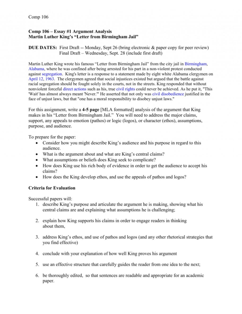 001 Letter From Birmingham Jail Ethos Pathos Logos Essay Example 008006798 1 Top Large