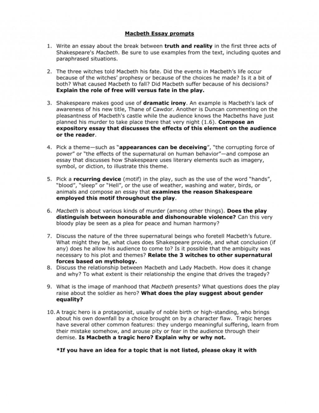 001 Macbeth Essay Topics 008046547 1 Surprising Examples Pdf Grade 11 Tragic Hero Large
